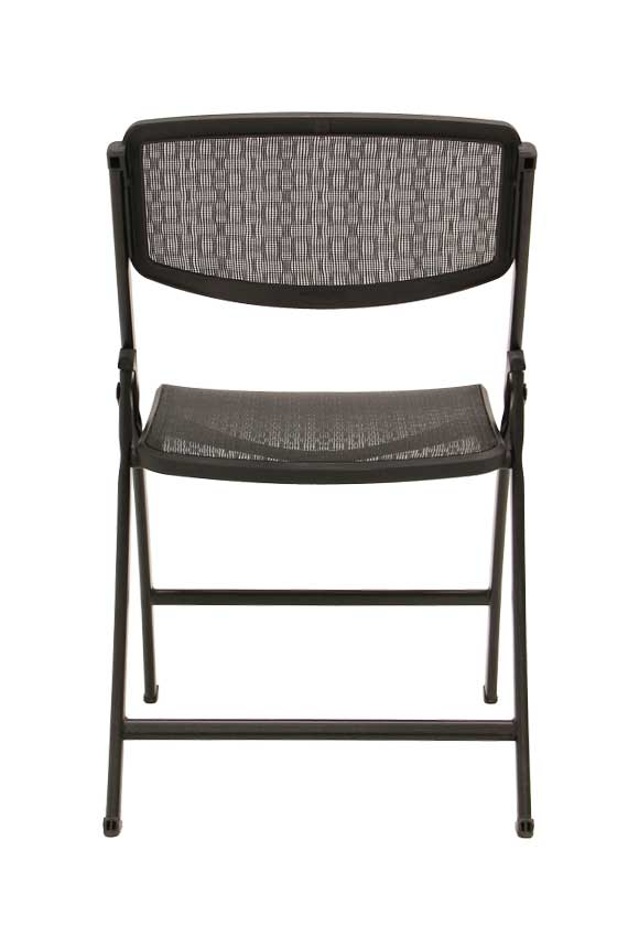 ... Folding Chair. Silver Frame With Black Mesh. Previous. Next